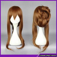 Fashion style Kantai collection Hibiki (kancolle) Inazuma (kancolle) Anime Brown wig cosplay fashion lolita wig,Colorful Candy Colored synthetic Hair Extension Hair piece 1pcs WIG-577H