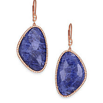 Meira T - Sodalite, Diamond & 14K Rose Gold Drop Earrings - Saks Fifth Avenue Mobile