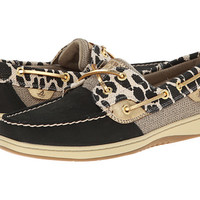 Sperry Top-Sider Bluefish 2 Eye Shimmer Leopard Black - 6pm.com