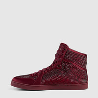Gucci - high-top sneaker with crystal studs 337450KLW106237