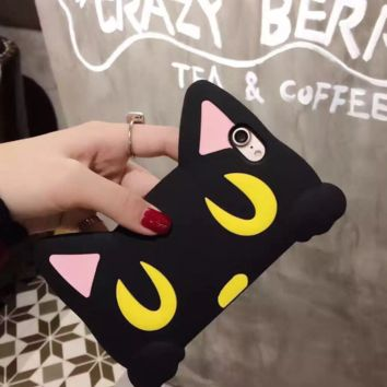 3D Silicon Cute Meow Cat Ears Iphone 7 7 Plus & iPhone 6 6s Plus Case Cover