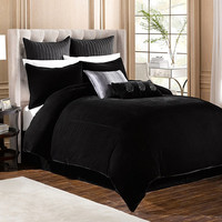 Velvet Duvet Cover in Black