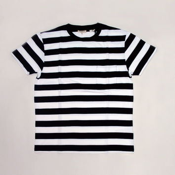 Levi's Made and Crafted Classic Tee Jacquard - Black / White Stripe