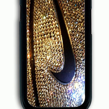 Samsung Galaxy S3 Case - Rubber (TPU) Cover with Nike Glitter Logo Rubber Case Design