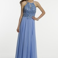 Chiffon Beaded Halter Dress from Camille La Vie and Group USA