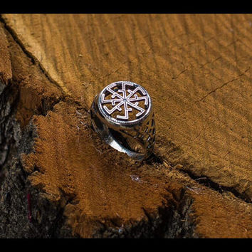 Handcrafted Svitovit Ring Sterling Silver Pagan Slavic Jewelry