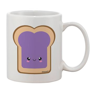 Cute Matching Design - PB and J - Jelly Printed 11oz Coffee Mug by TooLoud