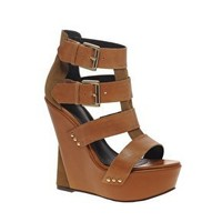 ASOS | ASOS TRADE Leather Buckle Wedge Sandal at ASOS