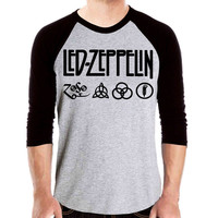 Led Zeppelin T Shirt Baseball Jersey