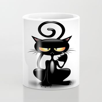 Cattish Angry Black Cat Cartoon Art Print by BluedarkArt