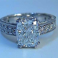 3.52ct Cushion Diamond Engagement ring EGL certified JEWELFORME BLUE