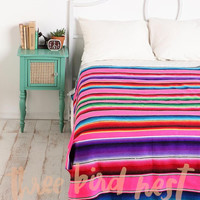 Oversized Mexican Serape Blanket