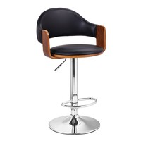 Malmberget Black Modern Bar Stool with Arm