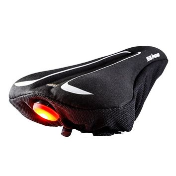 Roswheel Sahoo Series 511516 Cycling Slicone Gel Bike Seat Cover Bicycle Saddle Cushion Pad with Rear Back Light S M L Size