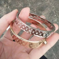 LV Louis Vuitton Women Men High End High Quality Stainless Steel Bracelet