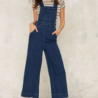 Wide Stepping Denim Overalls
