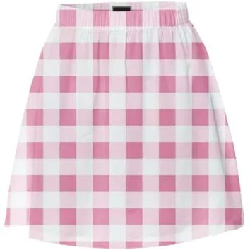 PETAL PINK GINGHAM Summer Skirt