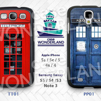 TARDIS Doctor Who Samsung Galaxy S3 S4 S5 Case,Tardis Dr Who Galaxy S3 S4 S5 Hard Rubber Case,cover skin Case Galaxy S3 S4 S5 Note3 - PP01