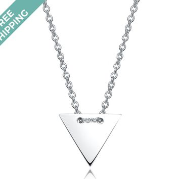 kiz&Co Sterling Silver Triangle Necklace