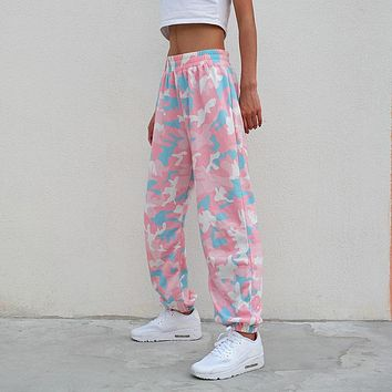 Pink Bubble Gum Camouflage Pants