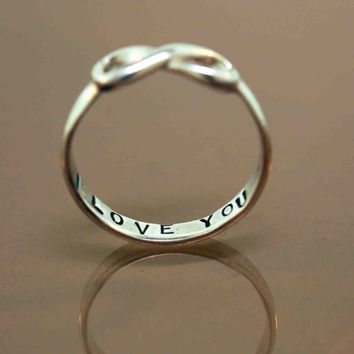 Custom Infinity Ring by TeriLeeJewelry on Etsy