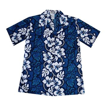 KY's Hawaiian Blue Boys Aloha Shirt