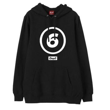 Kpop day6 big logo printing pullover fleece hoodies for fans supportive loose day 6 sweatshirt for autumn winter