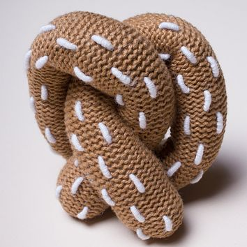 Estella Organic Cotton Handmade Baby Toy - Pretzel Rattle