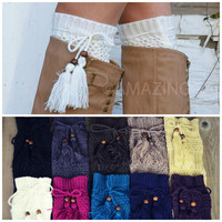 Wintry Tasseled Bootsock Leg Warmers