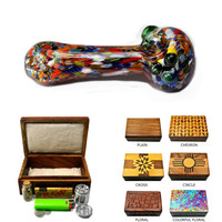FREE SHIPPING! Smoking Kit & Stash Box: Graffiti Pipe (Green)
