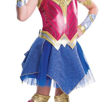 Batman v Superman: Dawn of Justice - Girls Deluxe Wonder Woman Costume-Small