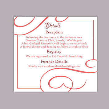 DIY Wedding Details Card Template Editable Text Word File Download Printable Details Card Wine Red Details Card Information Card Template