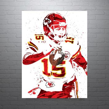 Pat Mahomes Kansas City Chiefs Poster
