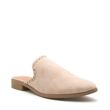 Stone Distress Slip On Mule Ballerina