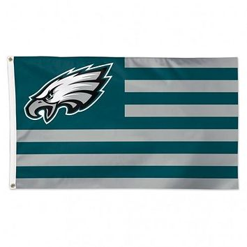 Philadelphia Eagles Flag 3x5 Deluxe Americana Design