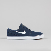 Nike SB Stefan Janoski CNVS Obsidian / White - Gum light Brown - Metal