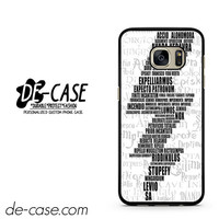 Harry Potter Spells DEAL-5145 Samsung Phonecase Cover For Samsung Galaxy S7 / S7 Edge
