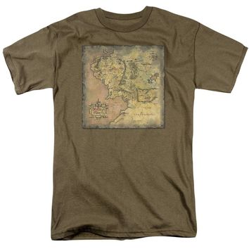 Lor - Middle Earth Map T-Shirt