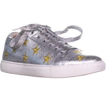 Kenneth Cole New York Kam Star Fashion Sneakers, Silver/Gold, 8 US / 39 EU