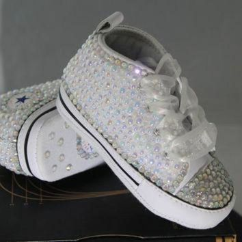 CREYUG7 Baby- Infant- Baptism- Christening- Custom Converse- Cry ba115be5c940