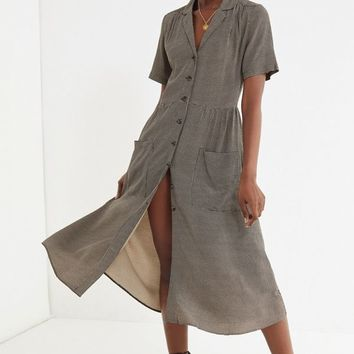 UO Button-Down Midi Shirt Dress | Urban Outfitters