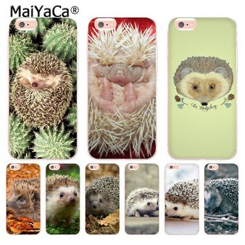 MaiYaCa Cute animal hedgehog Unique Design High Quality phone case for Apple iPhone 8 7 6 6S Plus X 5 5S SE 5C 4 4S Cover