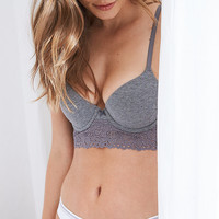 Bridget Demi Coverage Pushup Bra, Dark Heather