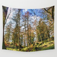 Into the Forest Wall Tapestry by Vicki Field