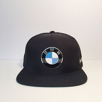 BMW metal logo custom snapback hat