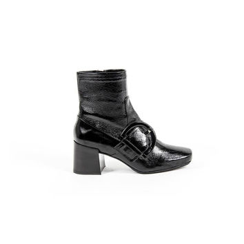 37 IT - 7 US Versace 19.69 Abbigliamento Sportivo Srl Milano Italia Womens Heeled Ankle Boot B2481 FINISH NERO