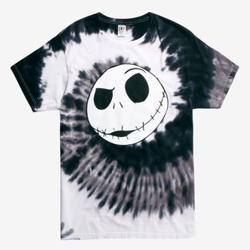 The Nightmare Before Christmas Jack Head Tie Dye T-Shirt