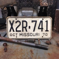 Vintage Missouri License Plate 1970s Vintage Metal