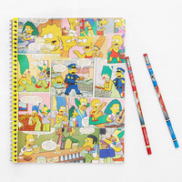 The Simpsons Notebook - 1990's Cartoon Popular Culture - back to school supplies