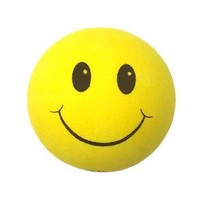 Tenna Tops® - Yellow Smiley Happy Face Car Antenna Topper / Antenna Ball (Flat Rate 2.99 Shipping - Any Size Order)